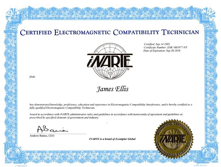 Narte Certificate